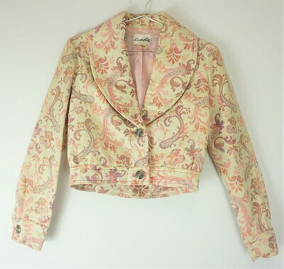 Cream Paisley print Jacket Size 10