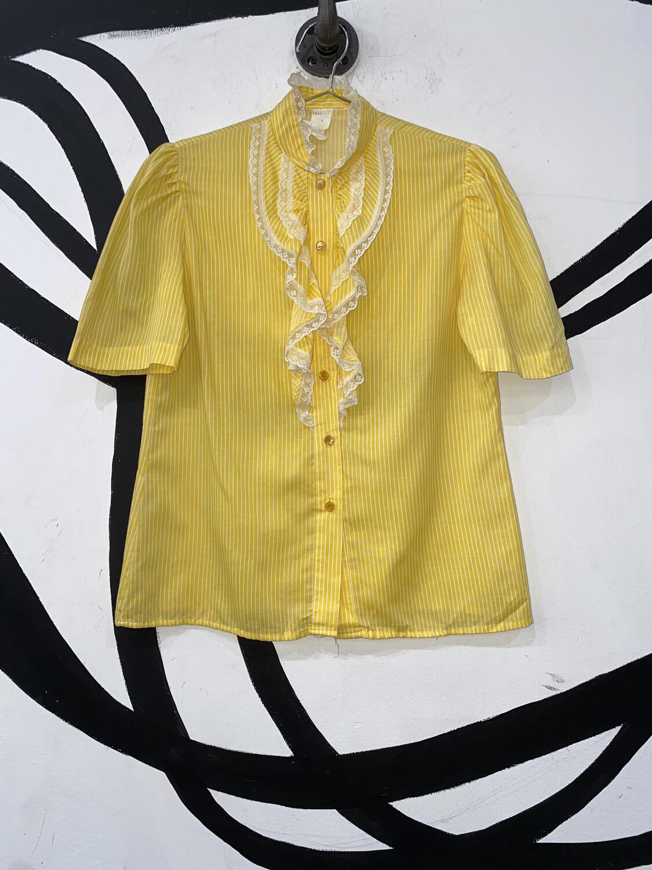 Yellow Lace Blouse Size M