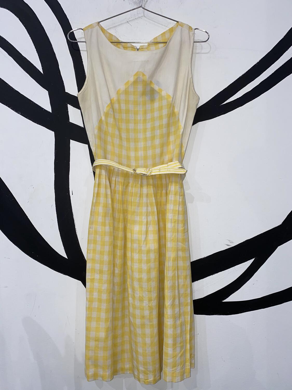 Yellow Gingham Dress Size M