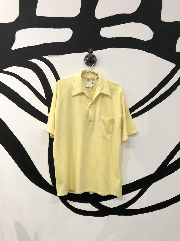 Light Yellow 70's Polo Shirt Size L