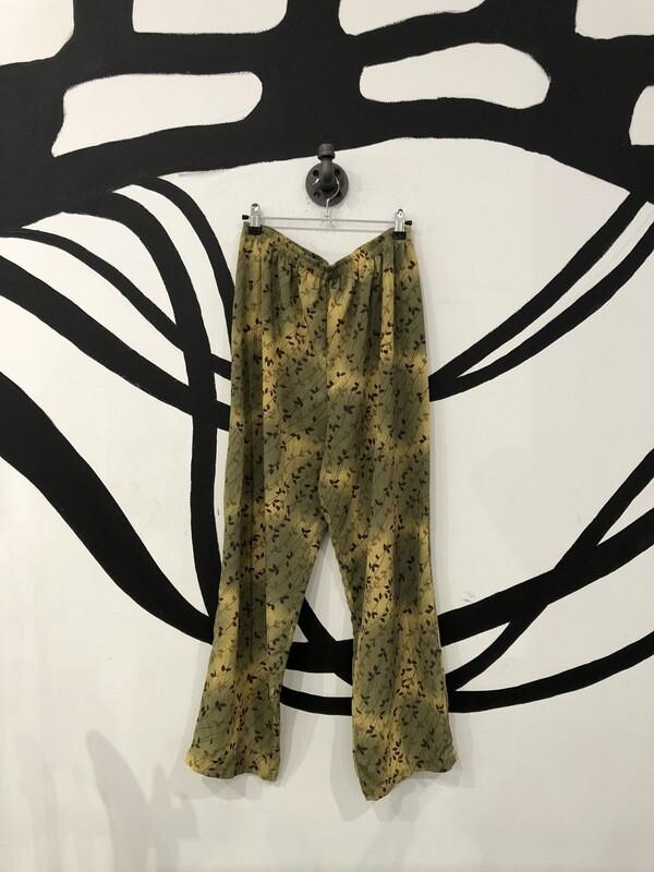 Miss Green Nature Patterned Flow Pants Size L