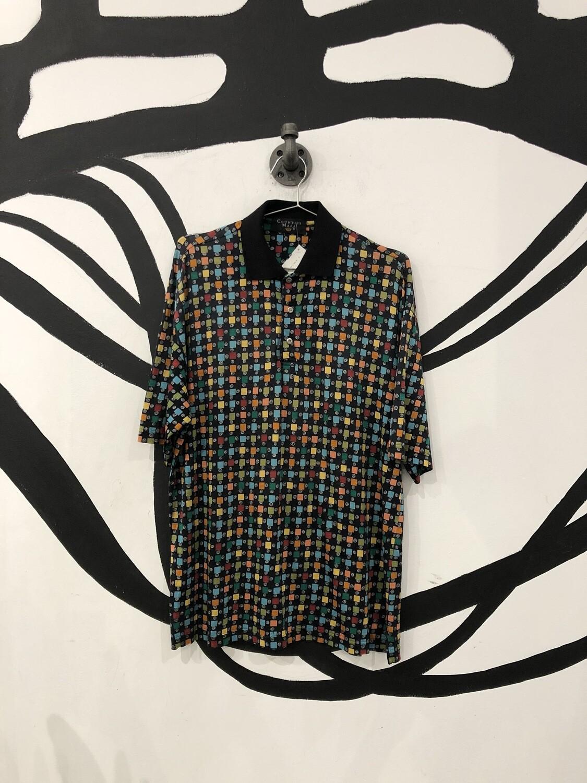 Multicolor Square Polo Shirt Size M