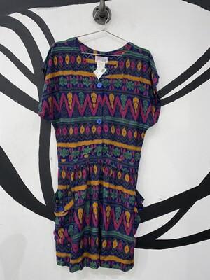 Women's Ikat Printed Jumpsuit-Medium