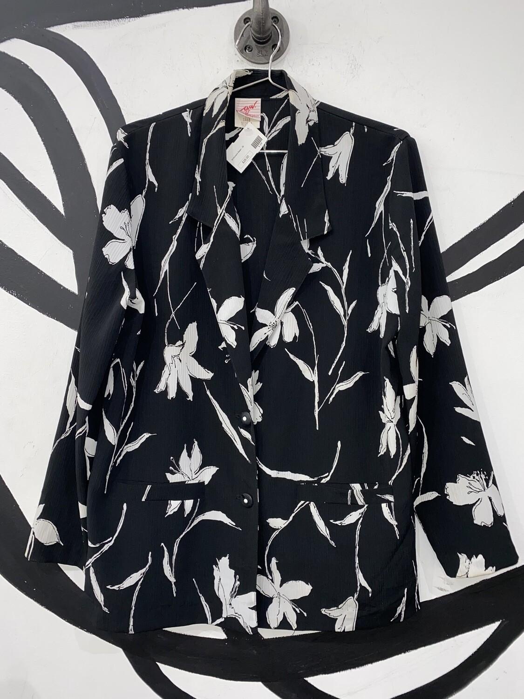 Women's Lightweight Floral Blazer-Size 8