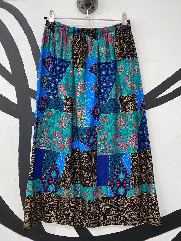 Patchwork Paisley Pattern Skirt Size M