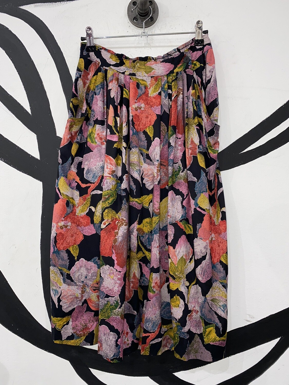 Watercolor Floral Float Skirt Size M