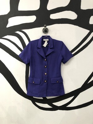Double Breasted Purple Blazer Top Size S