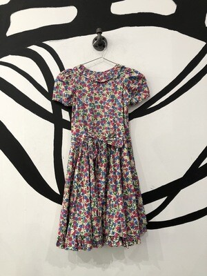 Floral Front And Back Tie Babydoll Dress Size M