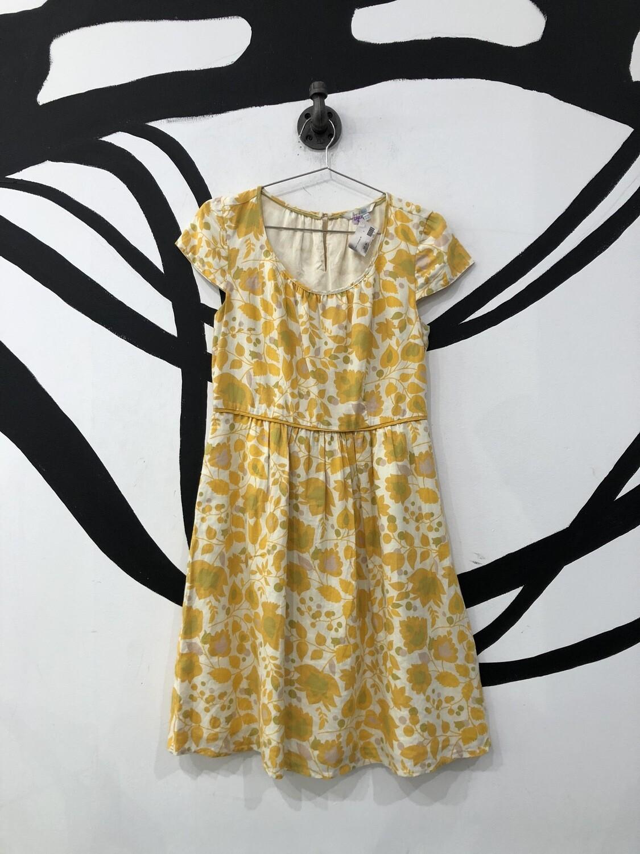 Yellow Cap Sleeve Babydoll Dress Size S