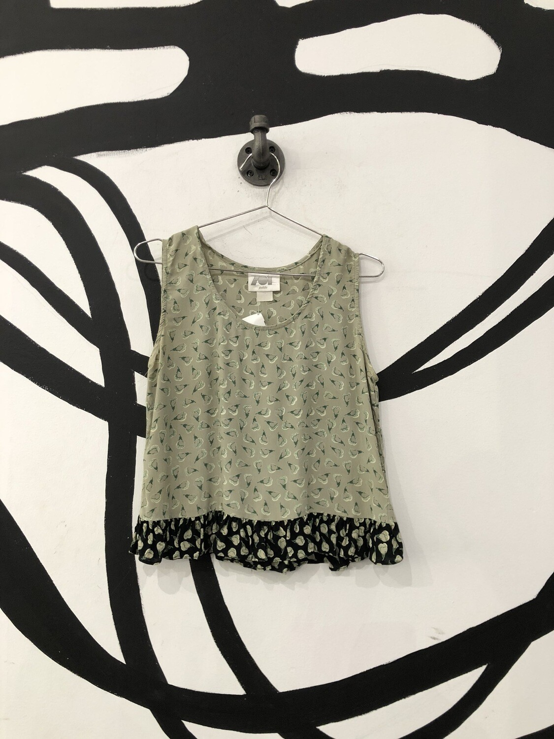 Pear Patterned Tank Top Size S