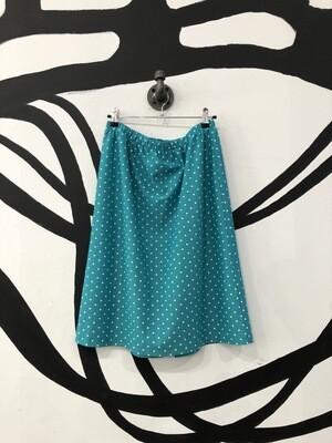 Aqua Polka Dot Skirt Size L