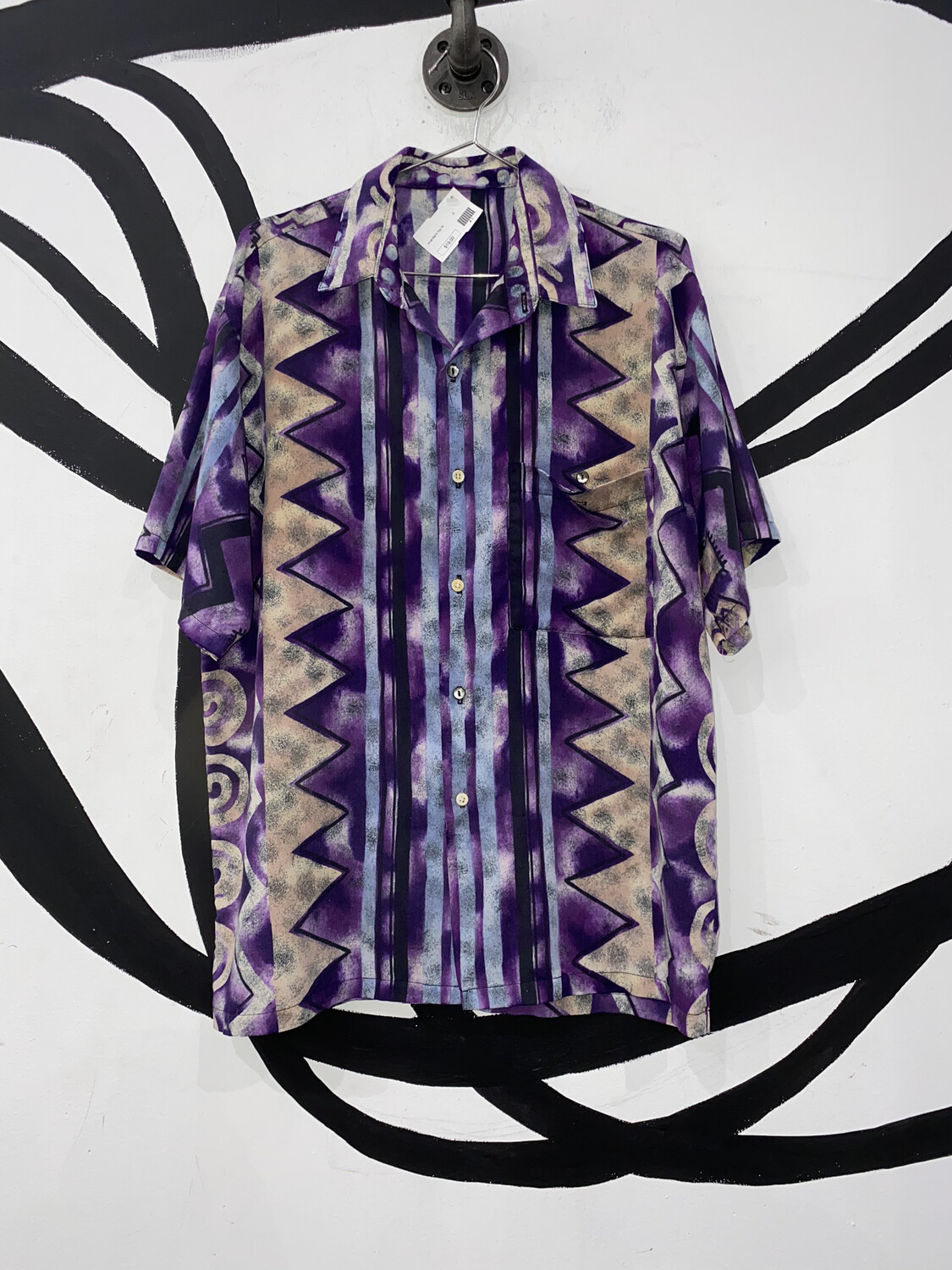 Patterned Button Up Size S