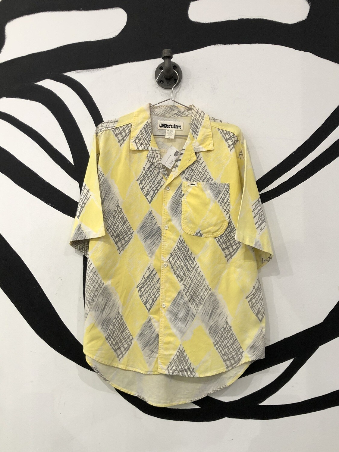 Yellow Patterned Button Up Shirt Size S