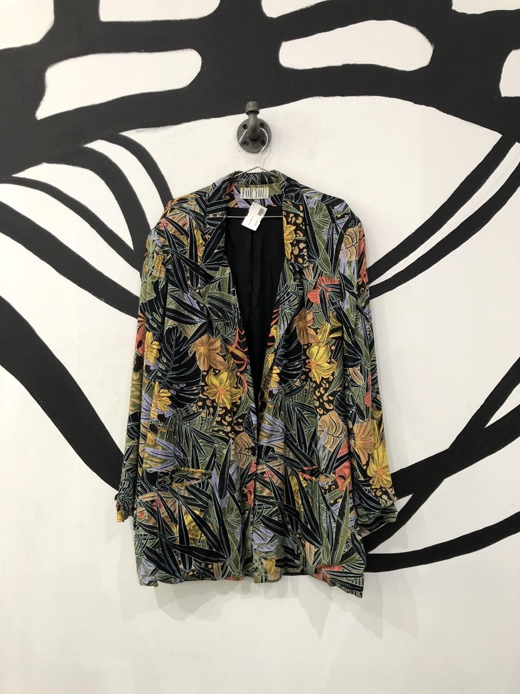 Tropical Print Blazer Size L