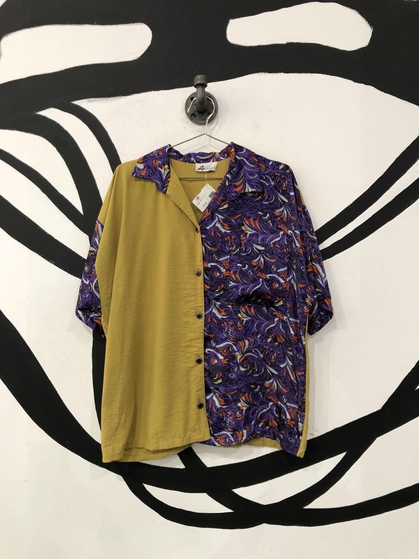 Split Patterned Shirt Size L
