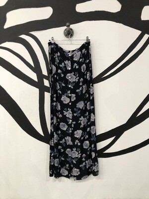 Floral Button Maxi Skirt Size M