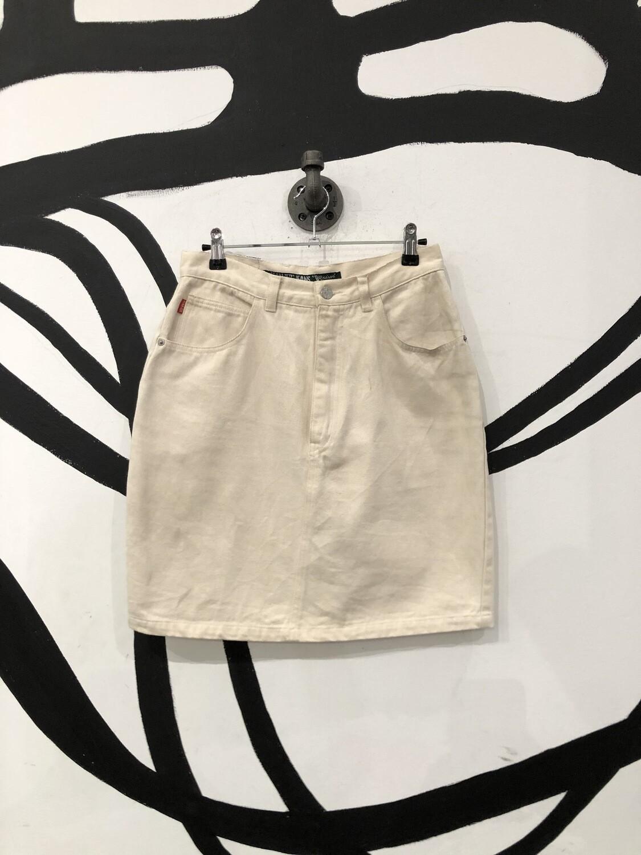 Cream High Waisted Skirt Size L