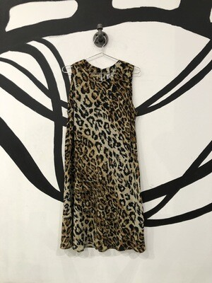 Cheetah Print Sleeveless Dress Size L