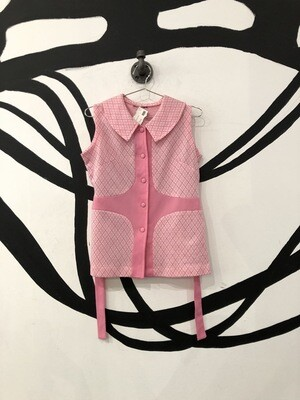 Pink Sleeveless Tie Back Top Size L