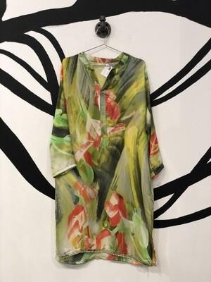 Floral Tunic Dress Size L