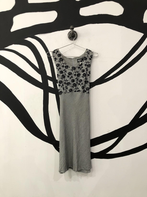 Rose Detail Tie Back Dress Size L