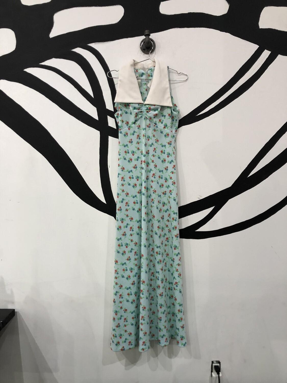Jumbo Collar 60's Floral Dress Size S
