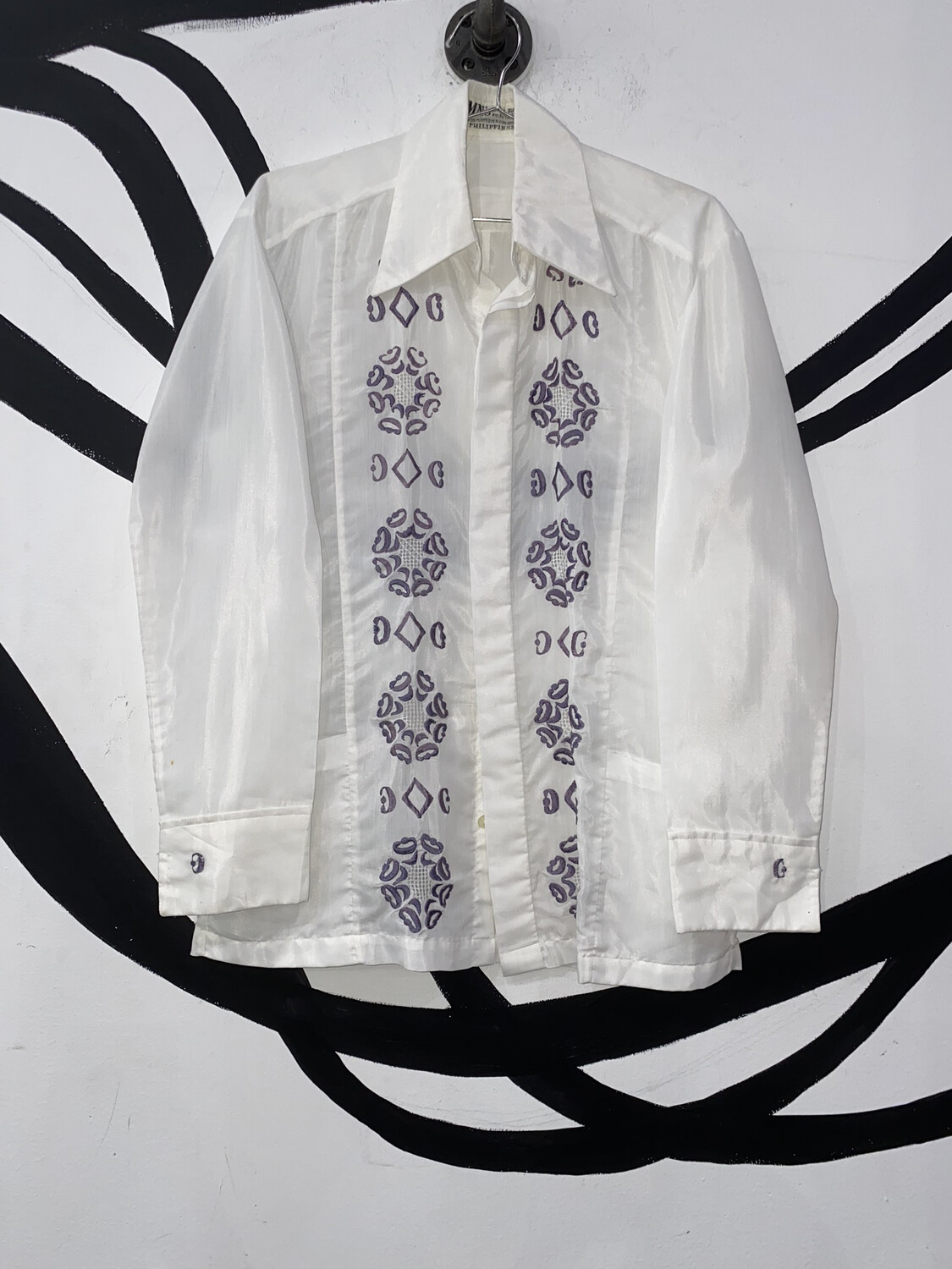Embroidered Button Up Size S