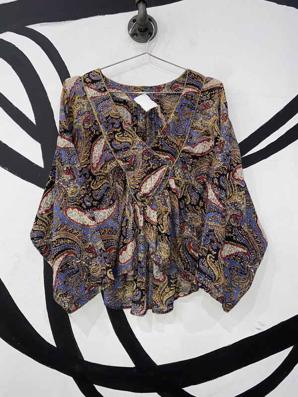 Paisley Bell Blouse Size S
