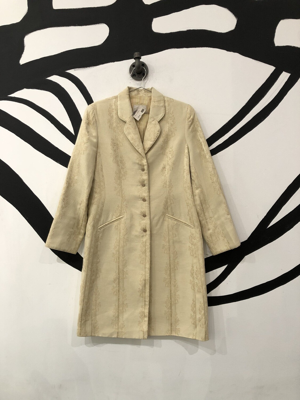 Cream & Gold Caroline Charles Coat Size L