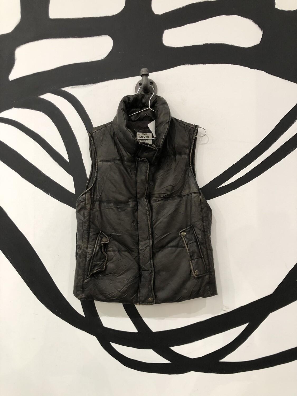 Levi's Brown Faux Leather Vest Size M