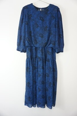 Navy And Black 80's Dress Size 14