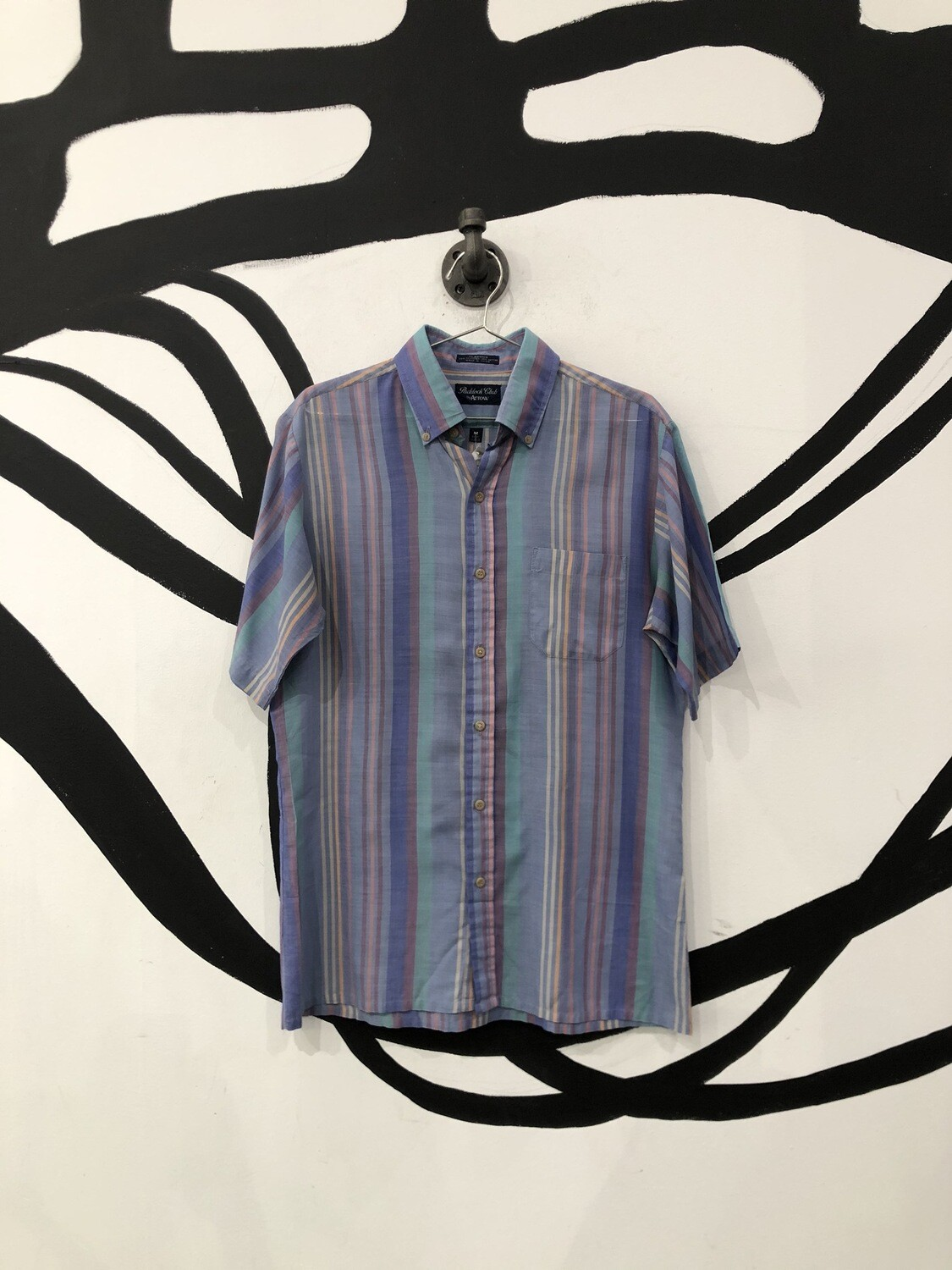 Striped  Colorful Button Up Size M
