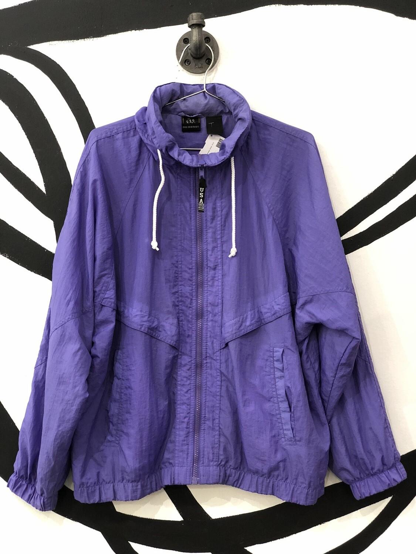USA Olympics Purple Zip-Up Windbreaker Size M