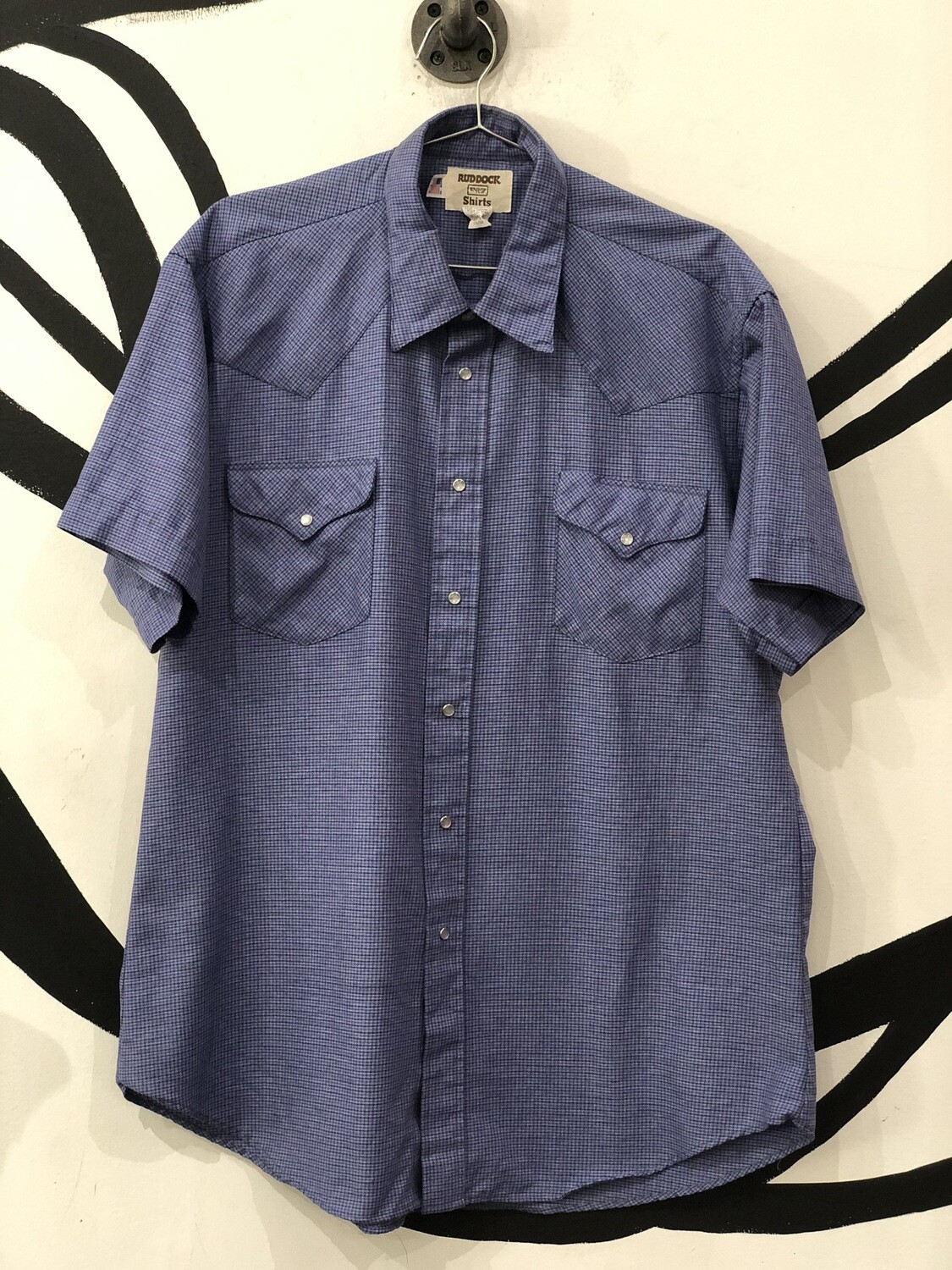 Ruddock Shirts Pearl Snap Short Sleeve Button Up Top Size 17 1/2