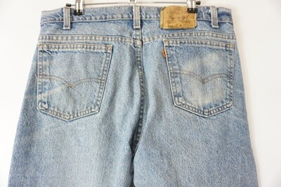 Levi's 505 Orange Tab Jeans 35 X 30 Made In The USA