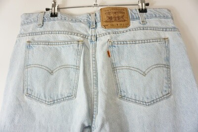Levi's 550 Orange Tab Jeans 38 X 30.5