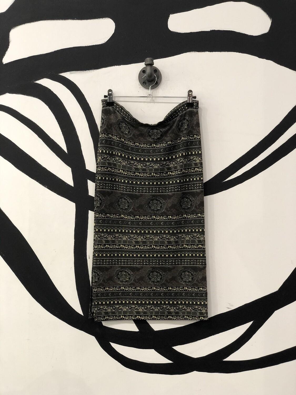 Neutral Stretch Double-Side Slit Midi Skirt Size M
