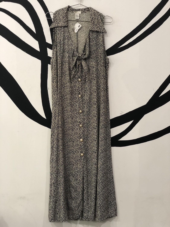 Oxford Collared Pearl Button Down Maxi Dress Size XXL