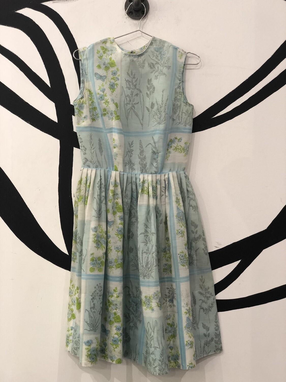 L'Aiglon Cottage Floral High Neck Dress Size 12
