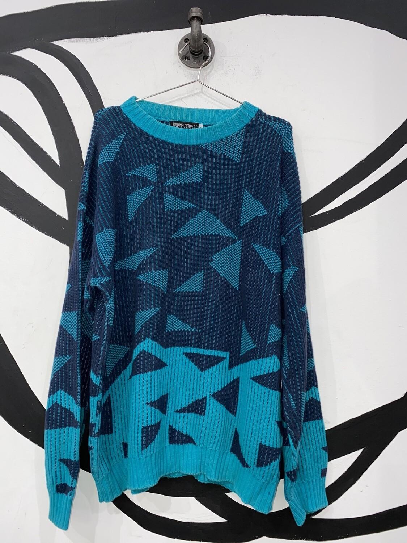 Retro Spring Street Knit Sweater Size M