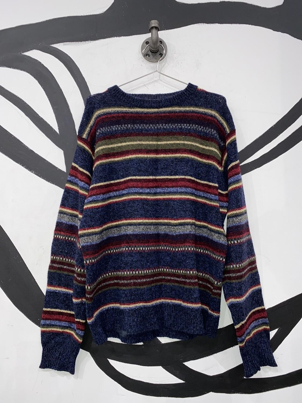 Geoffrey Beene Striped Knit Sweater Size M