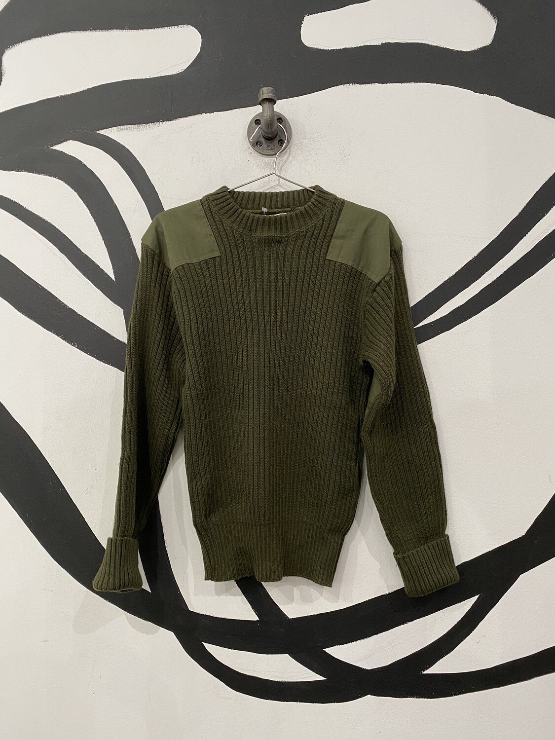 Military Wool Sweater Size L