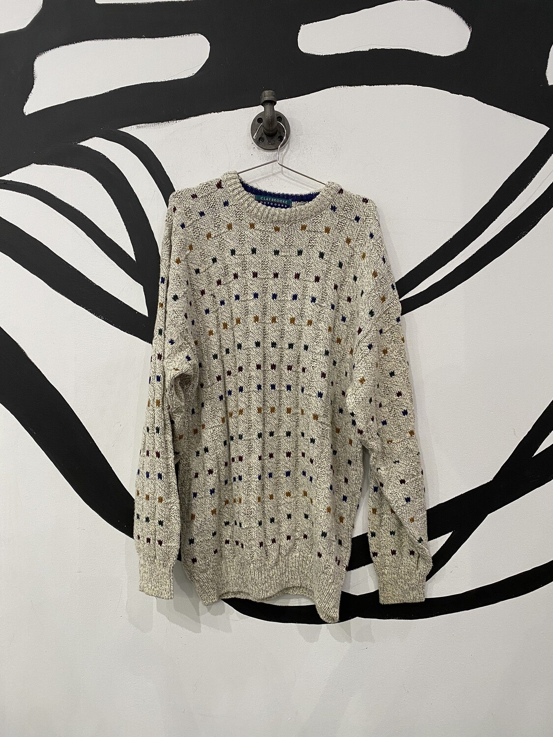 Multicolored Patterned Sweater Size L