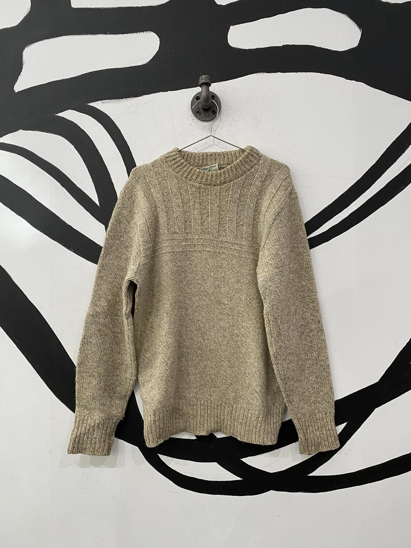 Cream Wool Sweater Size L