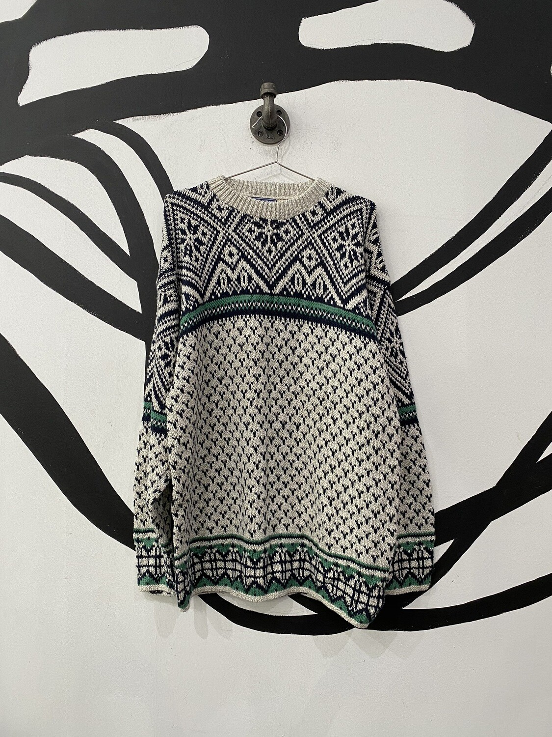 Cotton Patterned Sweater Size L