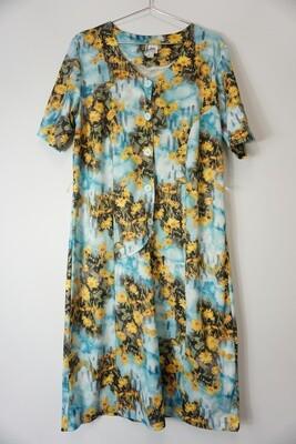 Yellow and Blue Daisy Dress
