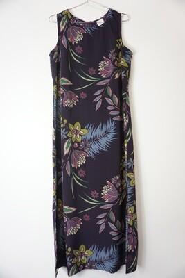 Dark Purple Floral Print Dress