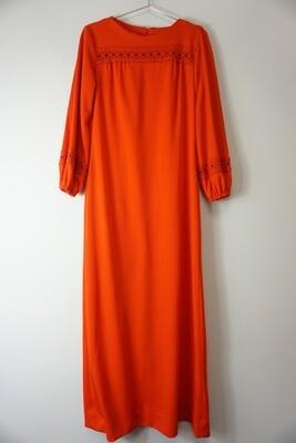 Vintage Lace Trim Maxi Dress