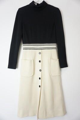 Cream and Black Dress Size 12