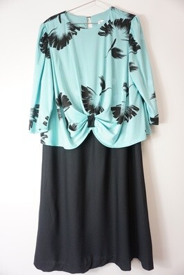 Teal and Black Dress Size 18.5